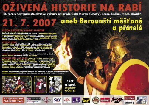 Berounští měšťané Oživená historie na Rabí 2007