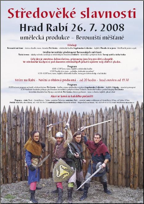 Berounští měšťané Středověké slavnosti 2008 Hrad Rabí