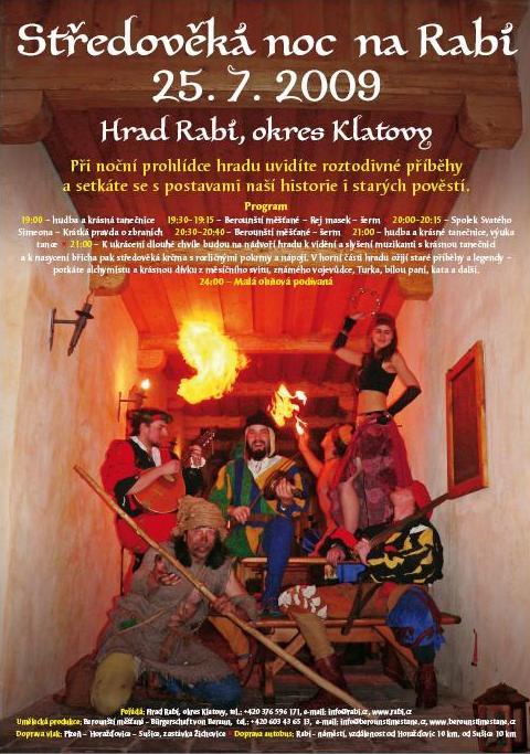 Berounští měšťané Středověká noc na Rabí 2009
