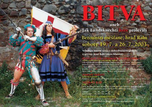 Berounští měšťané Bitva hrad Rabí 2003
